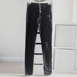REFUGE | BLACK STRETCHY SKINNY JEANS